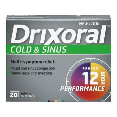 Drixoral Cold Amp Sinus 20s University Pharmacy