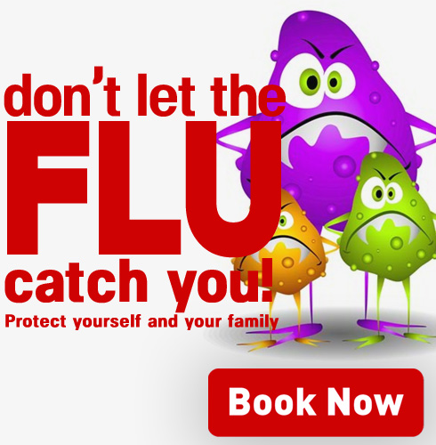 book a flu shot