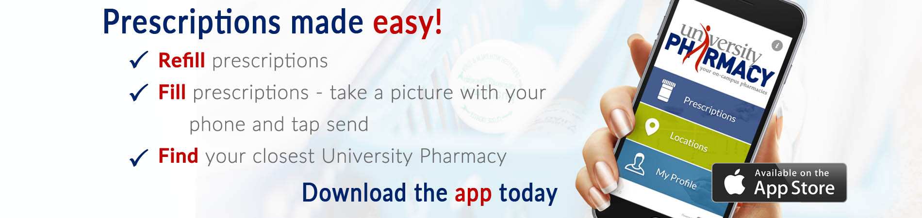 download the university pharmacy app today